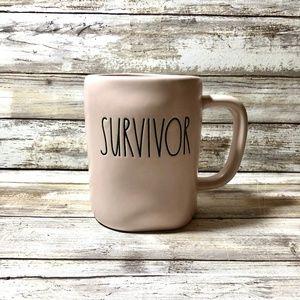 Rae Dunn Pink Survivor Mug New